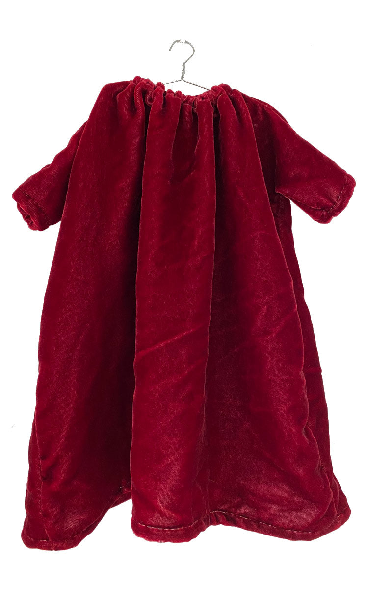 pomegranate washed velvet dress