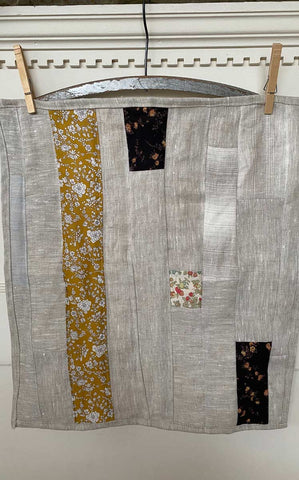 rag doll quilt  gold / brown palette