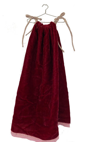 velvet chemise in pomegranate