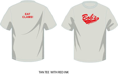 Bob's T Shirt - Tan with Red