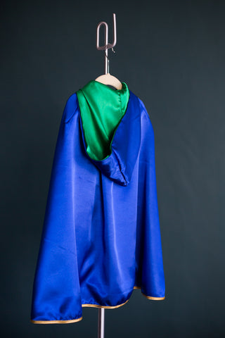 The Admiral Reversible Kids Cape- Green & Blue