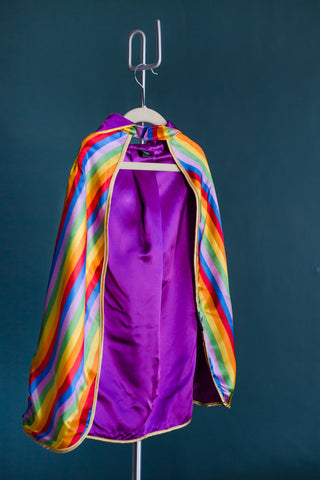 Noble Rainbow Reversible Hooded Kids Cape
