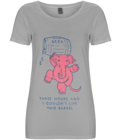 I Couldn't Lift This Barrel Pink Elephant - Women's Fair Share Organic T-Shirt