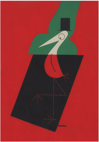 The Stork Club Red Bar Book Cover 1946 by Paul Rand