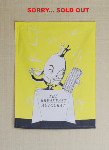 The Breakfast Autocrat, 1950s New York Kitchen Towel