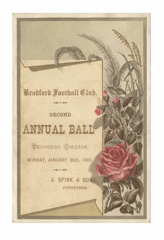 Bradford Football Club Annual Ball 1885