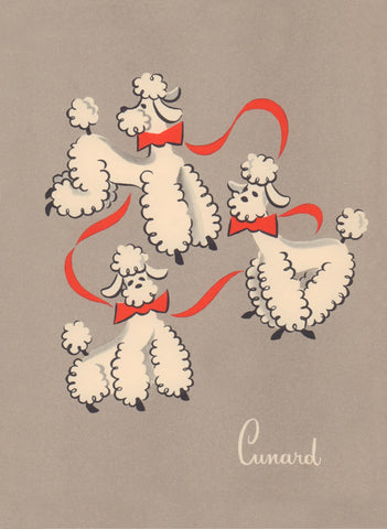 Cunard Poodles, RMS Franconia, 1956