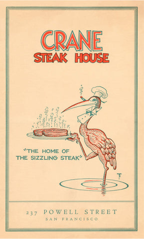 Crane's Steak House, San Francisco 1936