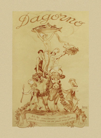D'Agorno, Paris 1920s Menu Art