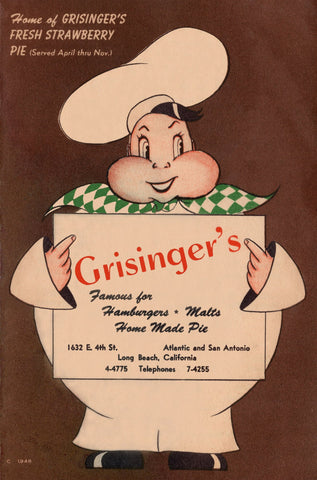 Grisinger's, Long Beach 1951