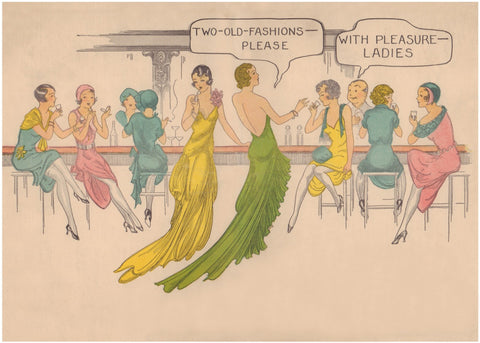 Feuer's Homewood Inn, Homewood Illinois 1930s Menu Art