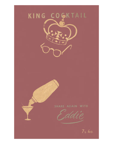 King Cocktail Shake Again With Eddie, London 1950s Book Cover