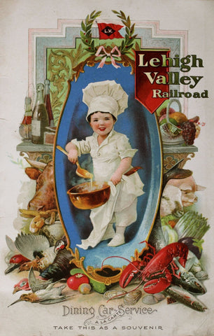 Lehigh Valley Railroad Dining Car Service 1913