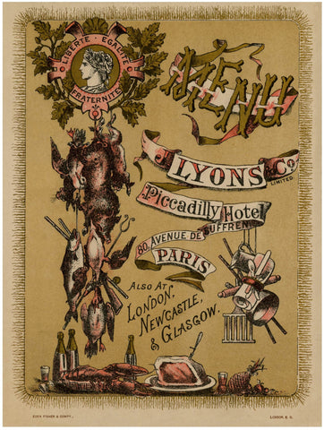 J. Lyons & Co, Piccadilly Hotel, Paris 1889