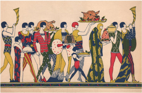The Mayflower 1931 Christmas Menu Art