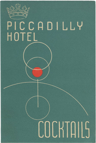 Cocktails Piccadilly Hotel, London, 1950s
