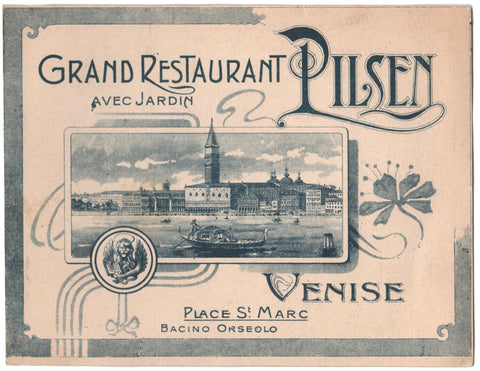 Grand Restaurant Pilsen, Venice Late 19th Century