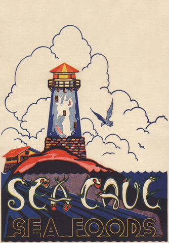 Sea Cave, Oakland 1952 Menu Art