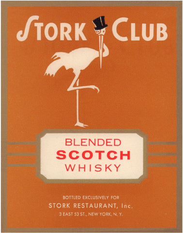 Stork Cub Liquor Label - Whisky 1940s