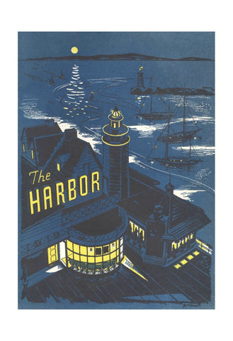 The Harbor Santa Barbara 1957 Vintage Menu