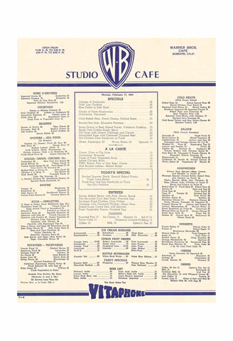 Warner Bros. Studio Canteen Hollywood 1941