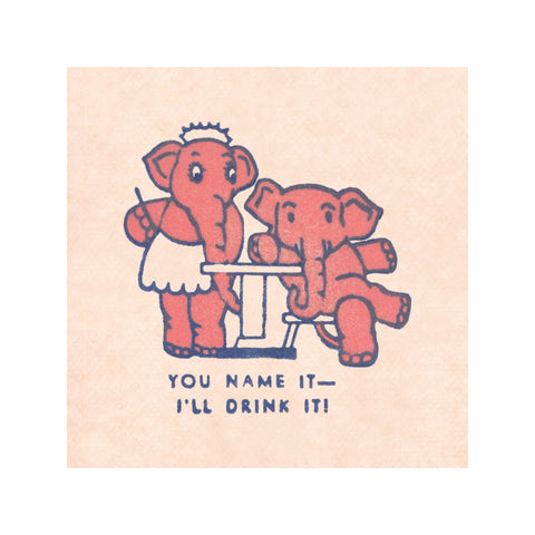 Pink Elephant Coasters (Set of 4)