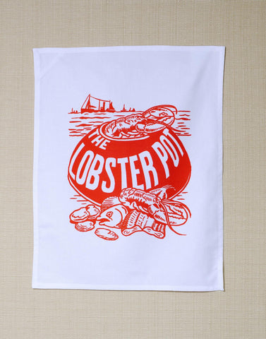 Lobster Pot, Blackpool, 1960s - Tea Towel