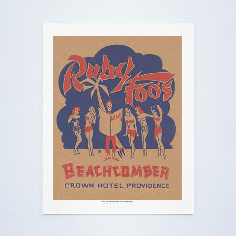 Ruby Foo's Beachcomber New Year's Eve Menu, Providence, R.I. 1930s