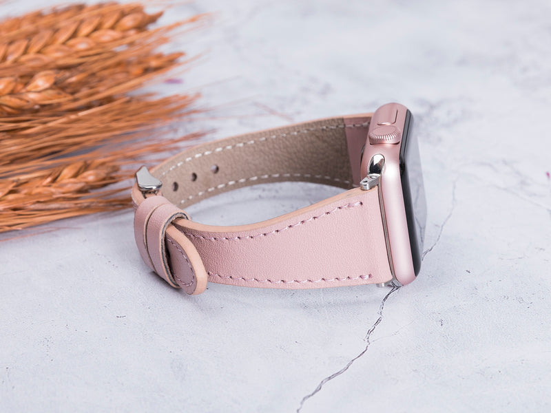 Slim Apple Watch Band for iWatch 1 2 3 4 5 6 SE - Nude