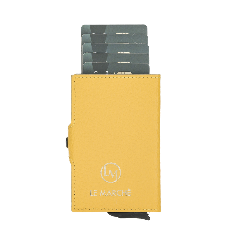 Mechanical Pop Up Wallet- Lemon Yellow