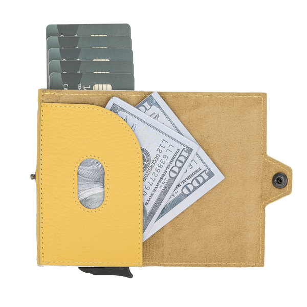 Mechanical Card Wallet Lemon Yellow