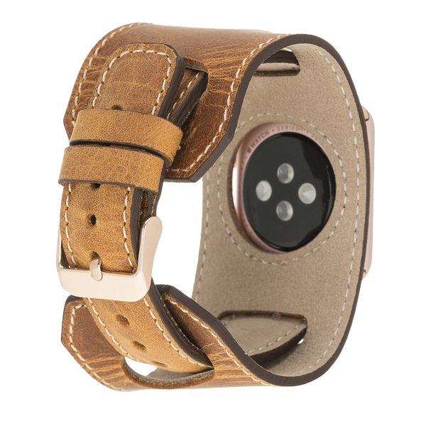 Cuff Apple Watch Band for iWatch 1 2 3 4 5 6 SE - Brown