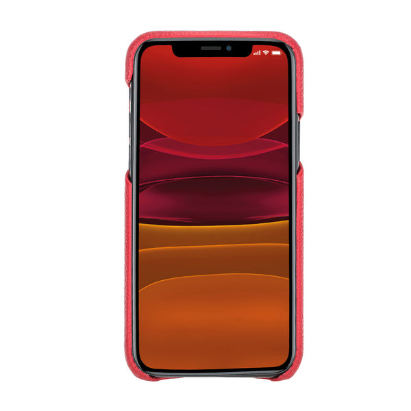 "iPhone 11 Pro Max (6.5"") 360º Full Cover Pebbled Leather Snap-On Case"