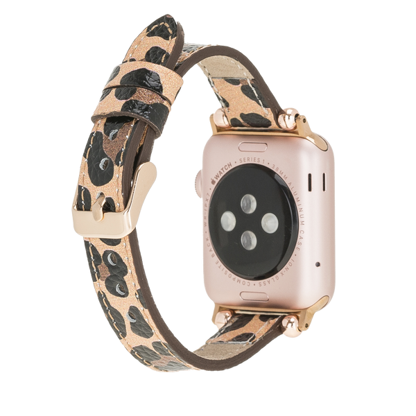 Thin Apple Watch Band for iWatch 1 2 3 4 5 6 SE - Leopard