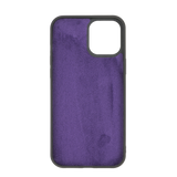 "iPhone 12 Pro Max (6.7"") Leather Snap On Case - Purple"