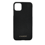 """le_marche_leather_iPhone_11_pro_max_6.5 """"_ handmade_leather_snap_on_cover_Case"""