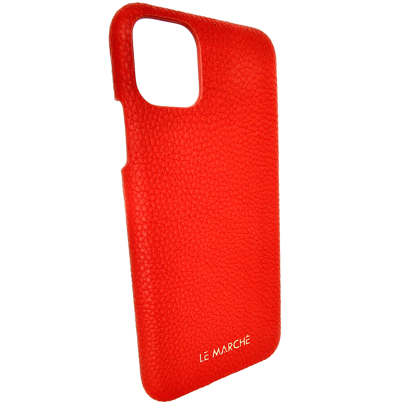 "iPhone 11 (6.1"") Leather Snap On Case- Ruby Red"