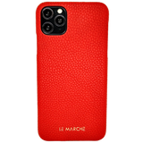 "iPhone 11 (6.1 "") Leder Snap On Case - Ruby Red"