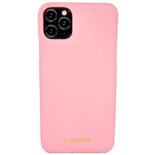 "iPhone 11 Pro Max (6.5"") Leather Snap-On Case- Champagne Pink"