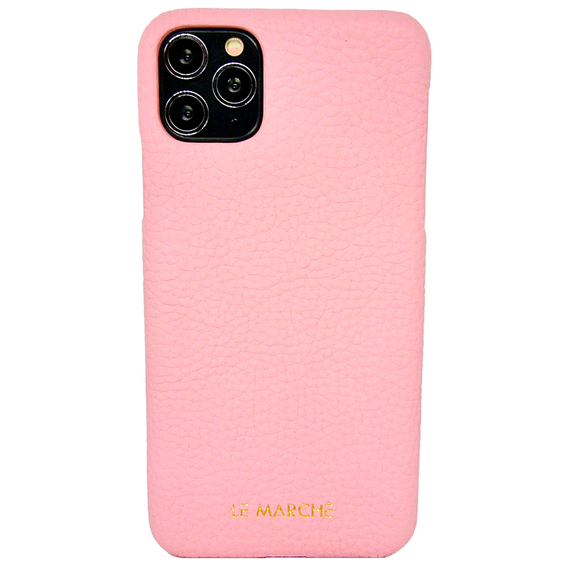 "iPhone 11 Pro (5.8"") Leather Snap On Case- Champagne Pink"