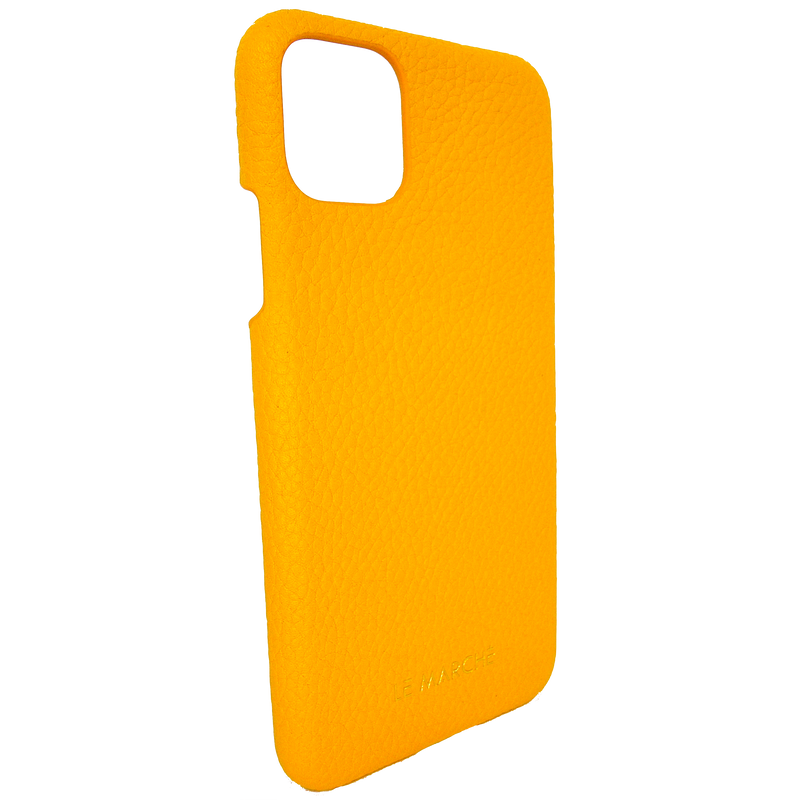 "iPhone 11 Pro Max (6.5"") Leather Snap On Case- Lemon Yellow"
