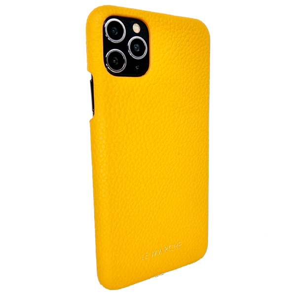 "iPhone 11 (6.1"") Leather Snap On Case- Lemon Yellow"