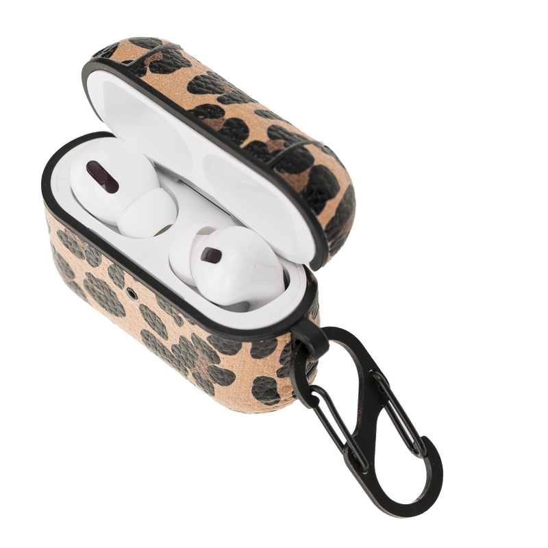 Leather Airpods Pro Case- Leopard
