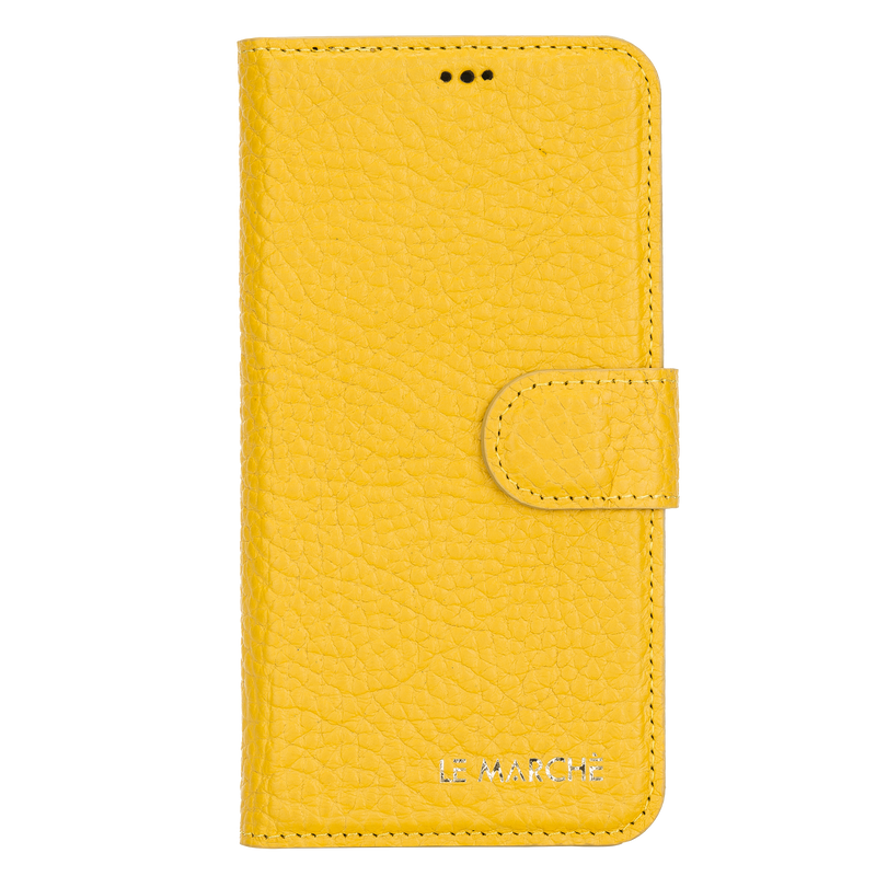 "iPhone 12 Pro Max (6.7"") magnetic Detachable Wallet Case - Lemon Yellow"