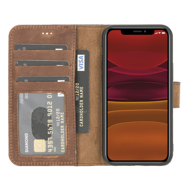 "iPhone 12 Mini (5.4"") Magnetic Detachable Wallet Case - Dark Brown"