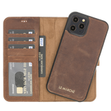 "iPhone 12 Pro Max (6.7"") magnetic Detachable Wallet Case - Dark Brown"