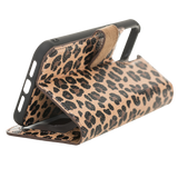"iPhone 12 Pro Max (6.7"") magnetic Detachable Wallet Case - Leopard"