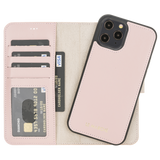 "iPhone 12 Pro Max (6.7"") magnetic Detachable Wallet Case - Nude Pink"