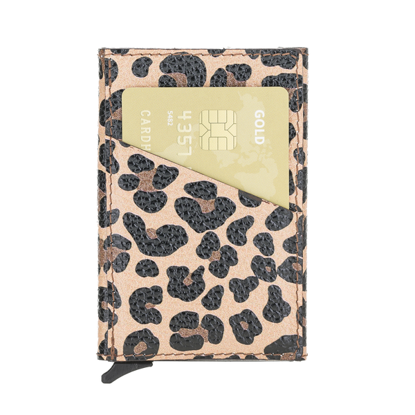 Mechanical Card Holder Leopard