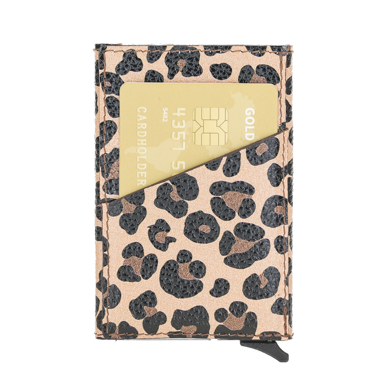 Mechanical Pop Up Wallet- Leopard